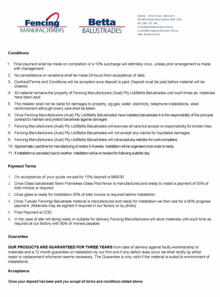 TERMS AND CONDITIONS 2018 CUSTOMERS