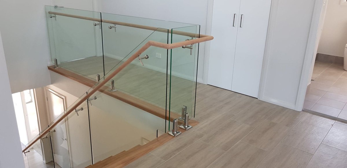 clear toughened frameless glass balustrades in newcastle home