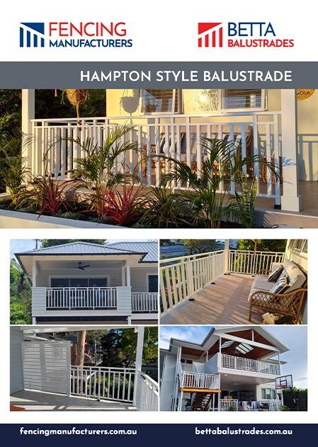 Hampton Style Balustrade poster